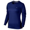 NIKE Women`s Miler Long Sleeve Top Deep Royal Blue