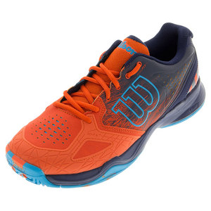 Men`s Kaos Comp Tennis Shoes Tomato Red and Navy