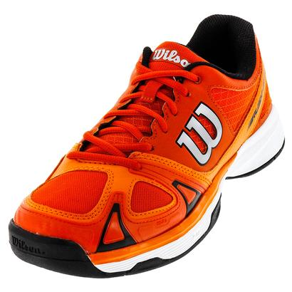 Men`s Rush Evo Tennis Shoes Tomato Red and Clementine