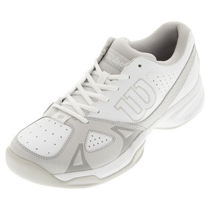 Men`s Rush Open 2.0 Tennis Shoes White and Steel Gray