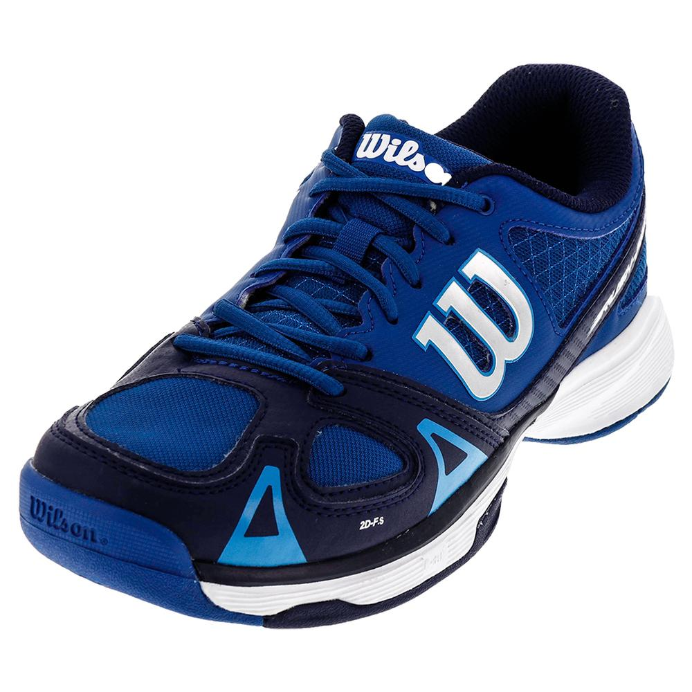 Juniors ` Rush Pro Tennis Shoes Deep Water And Navy