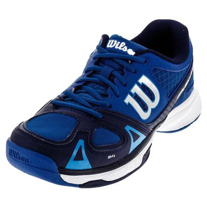 Juniors` Rush Pro Tennis Shoes Deep Water and Navy
