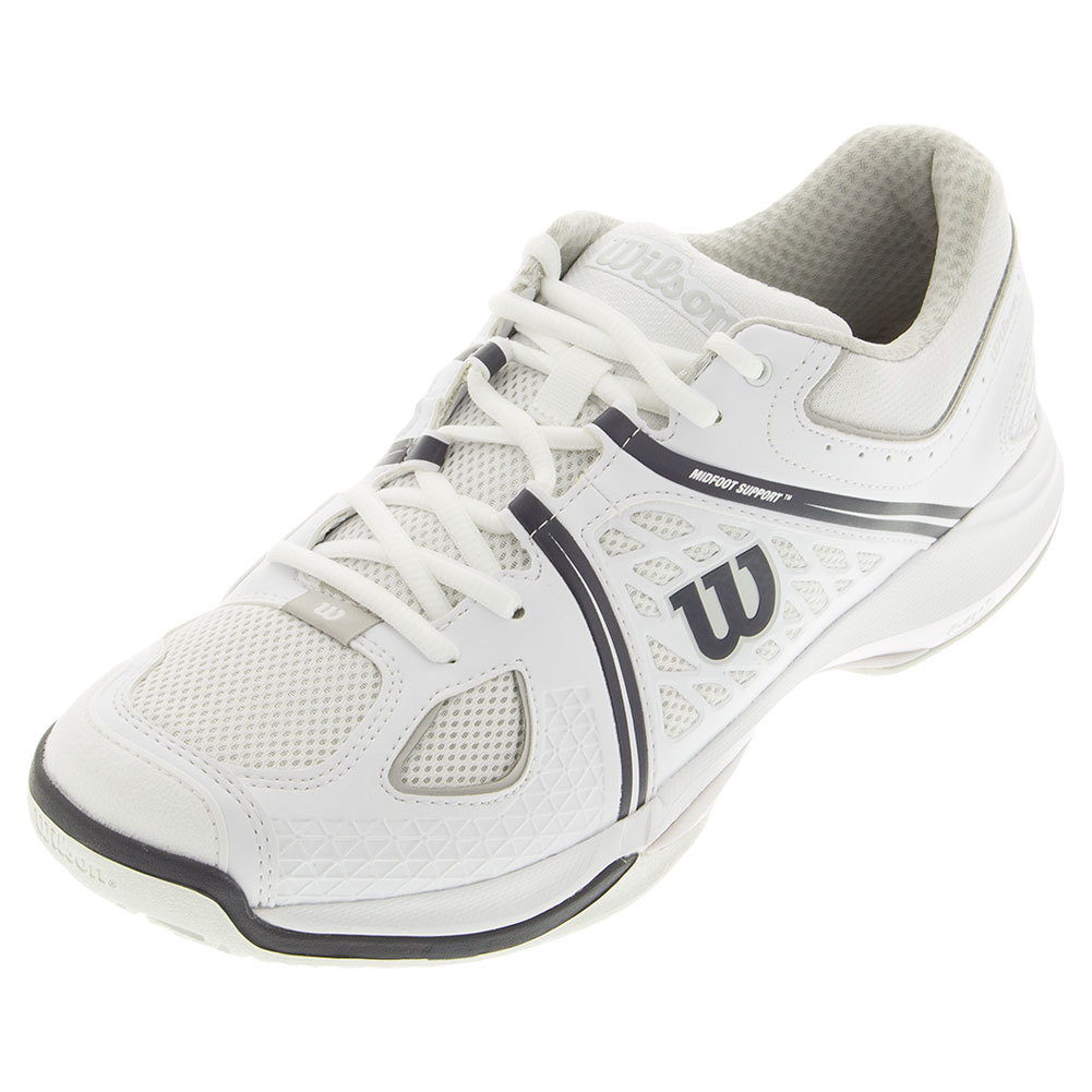 Men's Nvision Tennis Shoes White And Steel Gray
