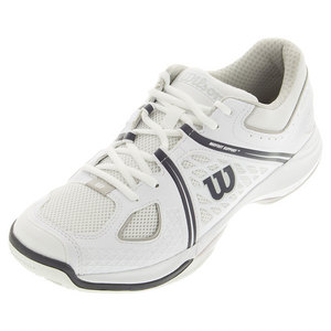 Men`s nVision Tennis Shoes White and Steel Gray