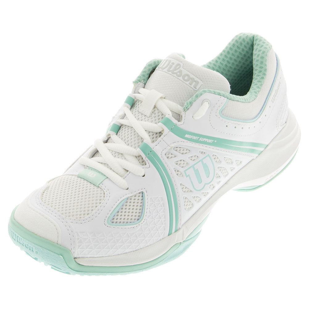 Women's Nvision Tennis Shoes White And Aruba Blue