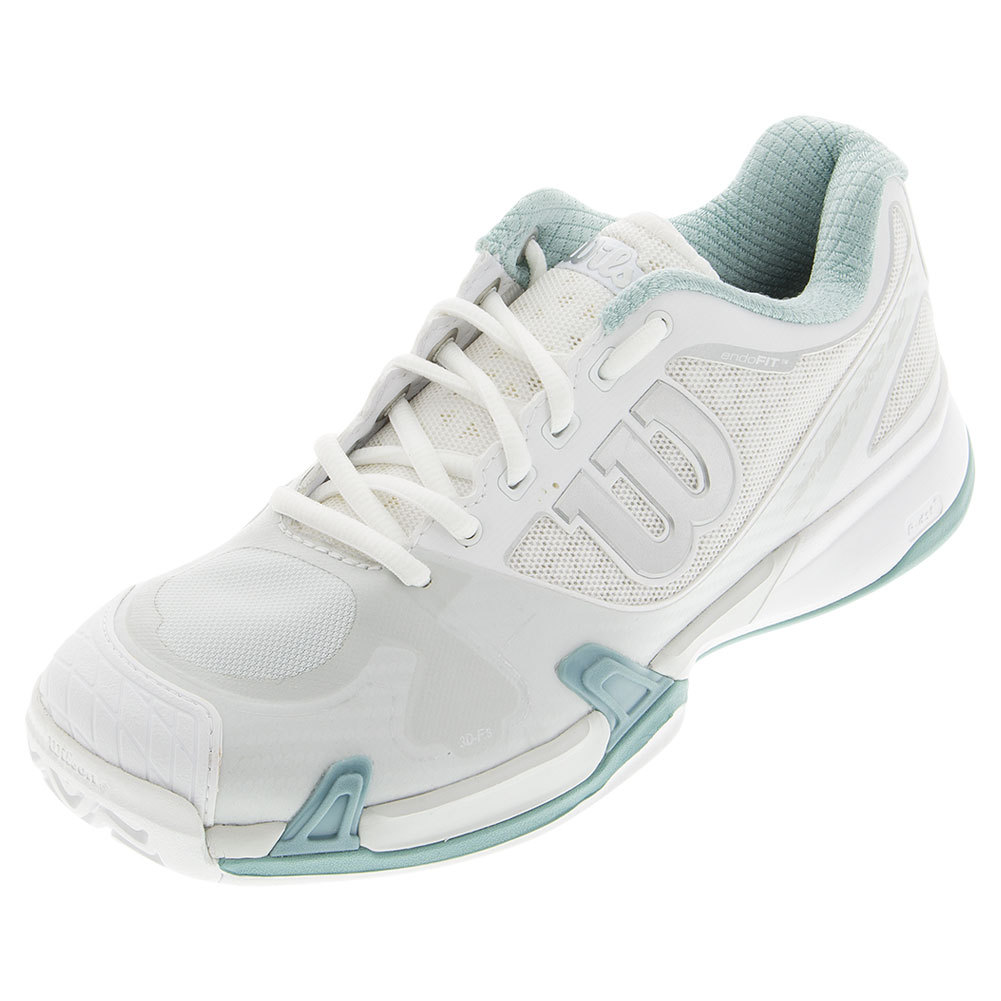 Women's Rush Pro 2.0 Tennis Shoes White And Ice Gray
