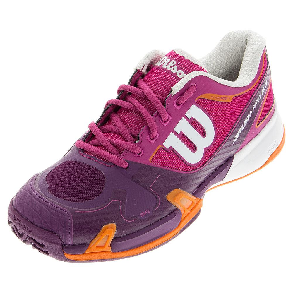 Women's Rush Pro 2.0 Tennis Shoes Fiesta Pink And Dark Plumberry
