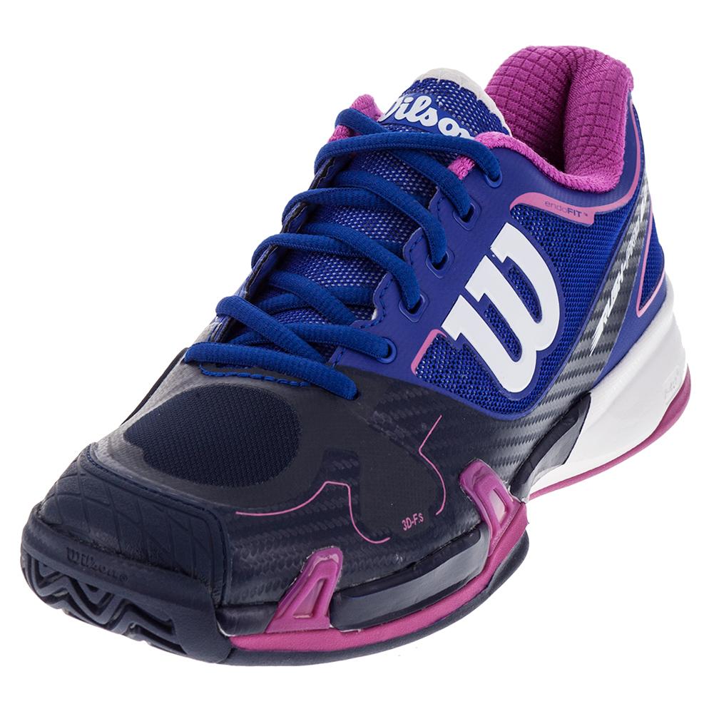 Women's Rush Pro 2.0 Tennis Shoes Blue Iris And Navy