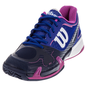Women`s Rush Pro 2.0 Tennis Shoes Blue Iris and Navy