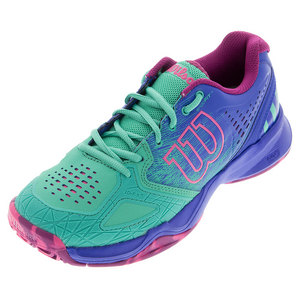 Women`s Kaos Comp Tennis Shoes Aquagreen and Blue Iris