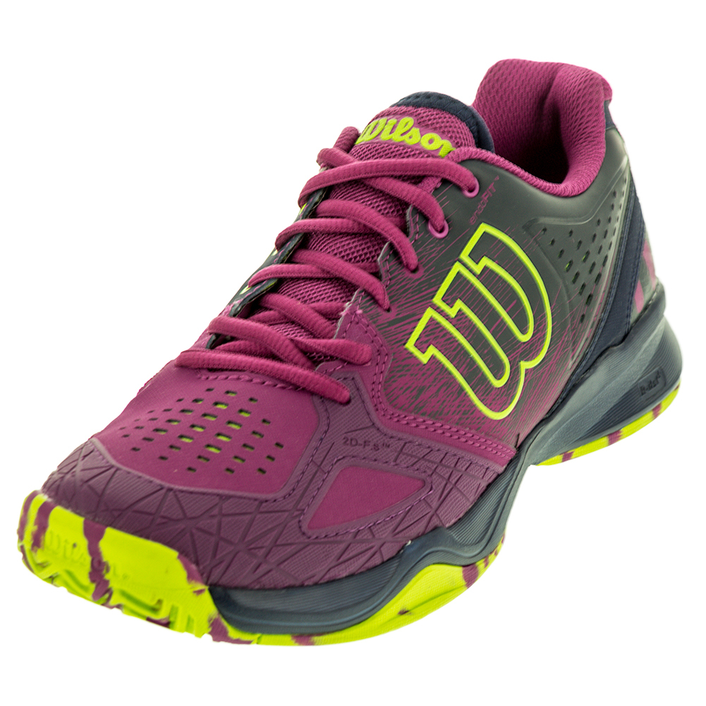 wilson s kaos comp tennis shoes in azalee pink and navy