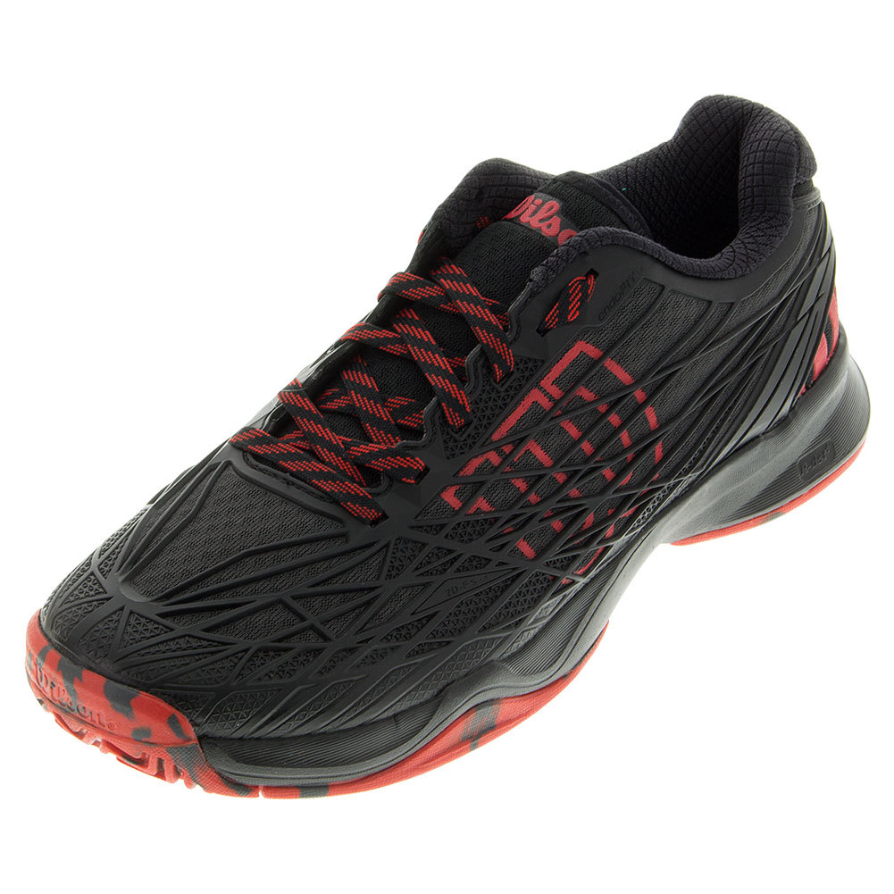 Men's Kaos Tennis Shoes Black And Wilson Red