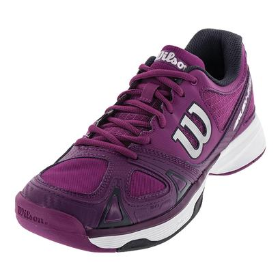 WILSON WOMENS RUSH EVO TENNIS SHOES AZ PK/PLUM