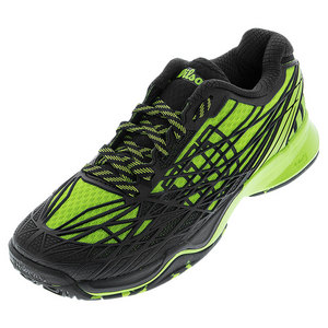 Men`s Kaos Tennis Shoes Granny Green and Black