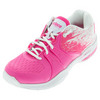 PRINCE Women`s Warrior Lite Tennis Shoes Pink and White