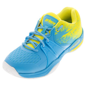 Women`s Warrior Lite Tennis Shoes Blue and Yellow