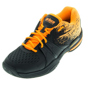 PRINCE MENS WARRIOR LITE TNS SHOES BLACK/ORANGE