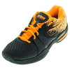 Men`s Warrior Lite Tennis Shoes Black and Orange by PRINCE