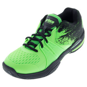 Men`s Warrior Lite Tennis Shoes Green and Black