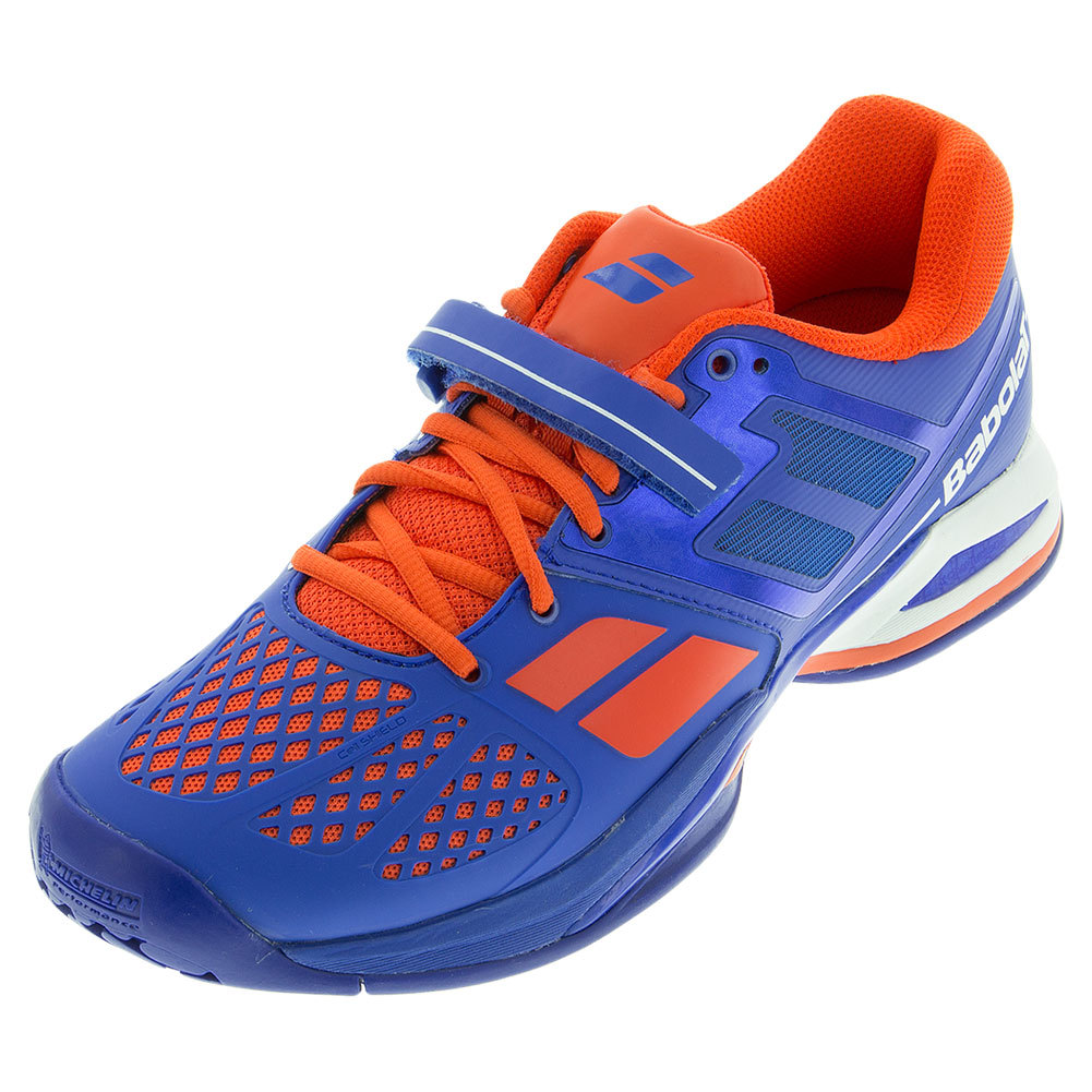 Men's Propulse All Court Tennis Shoes Blue And Red