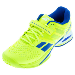 Men`s Propulse All Court Tennis Shoes Yellow and Blue