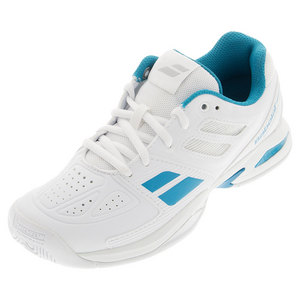 Juniors` Propulse Team Tennis Shoes White and Blue
