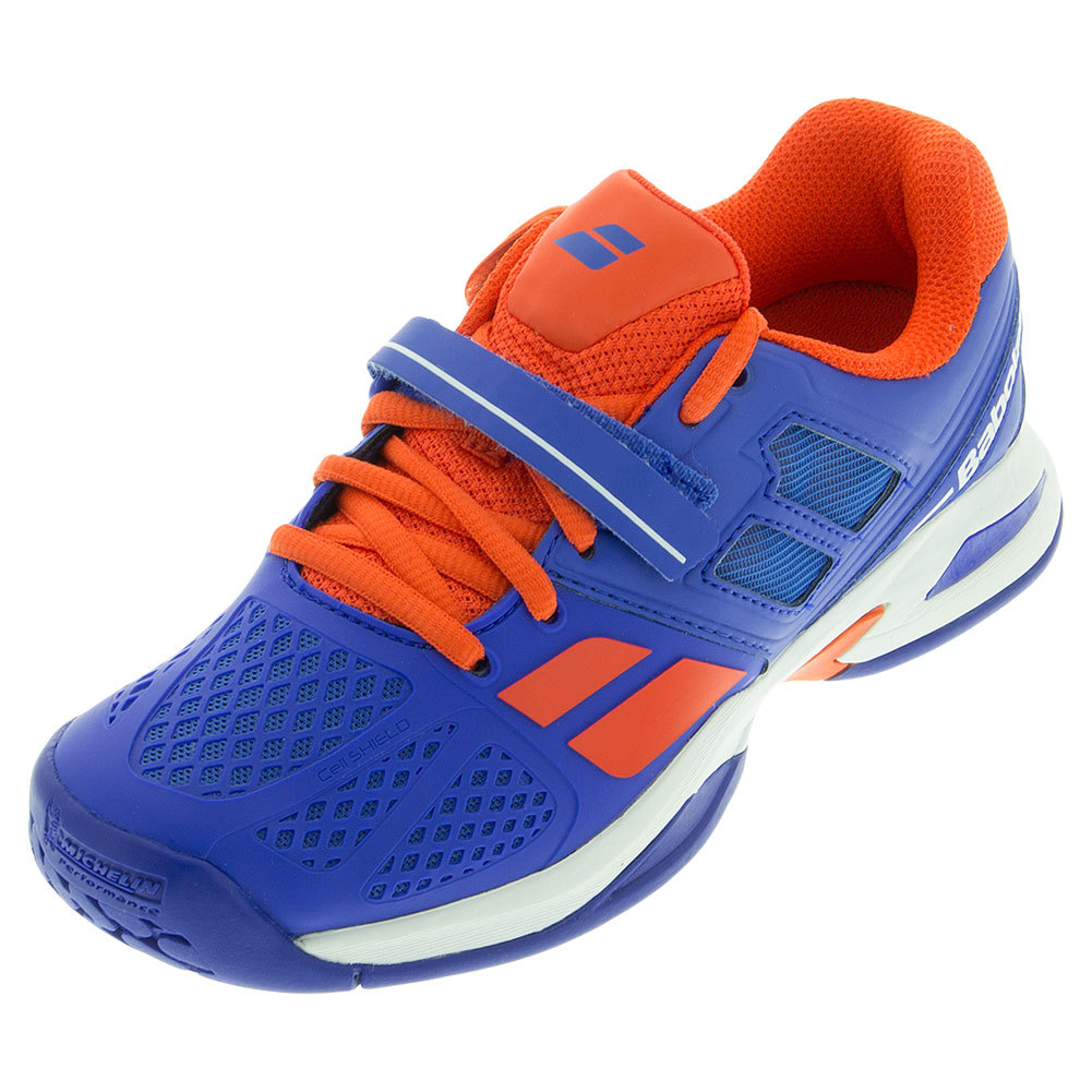 Juniors ` Propulse Tennis Shoes Blue And Red