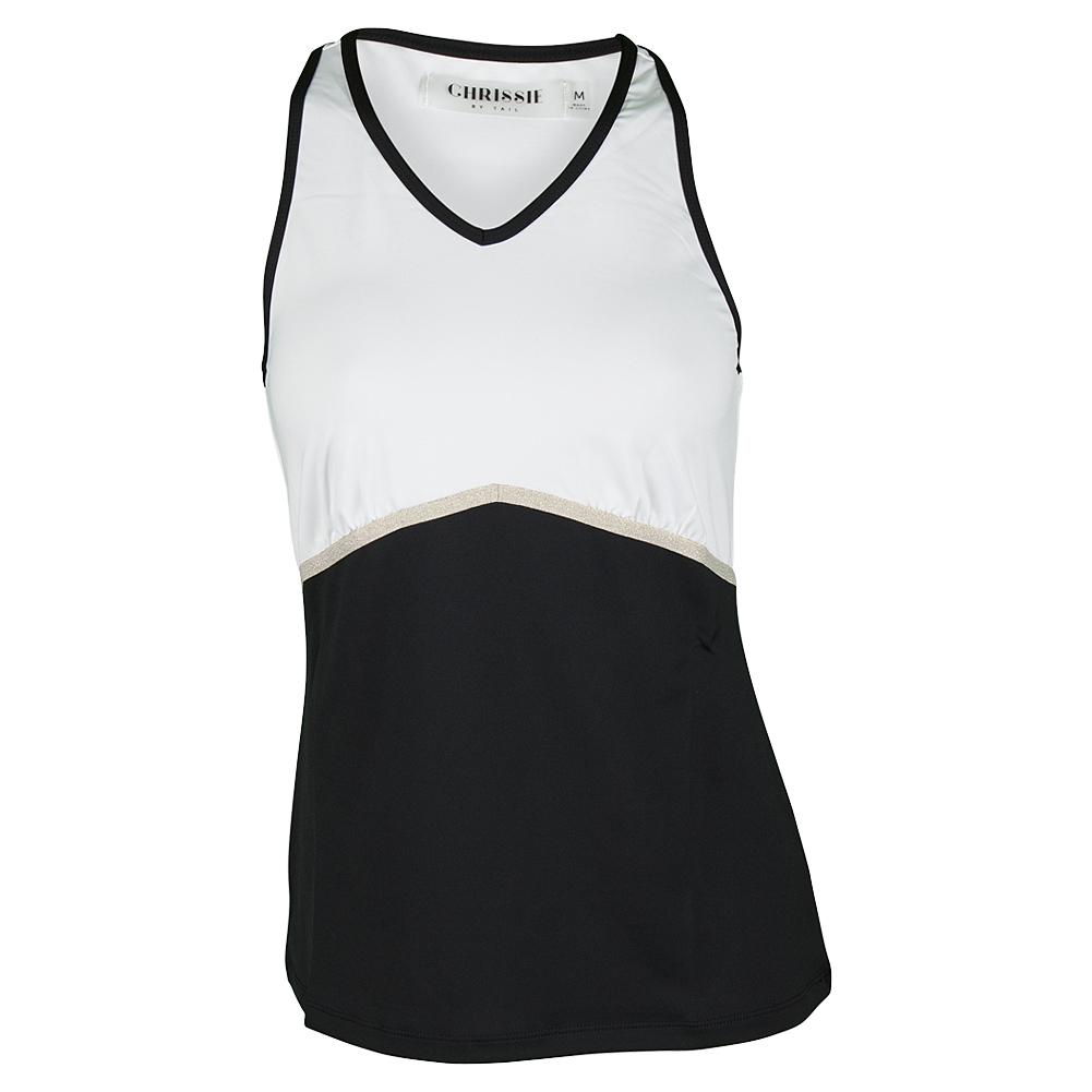 Women's Milena Tennis Tank White And Black