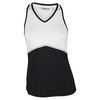 Women`s Milena Tennis Tank White and Black by CHRISSIE BY TAIL