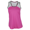 Women`s Ingrid Tennis Tank Flourescent Pink by JOFIT