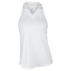 Women`s Jacquard Betsy Tennis Tank White