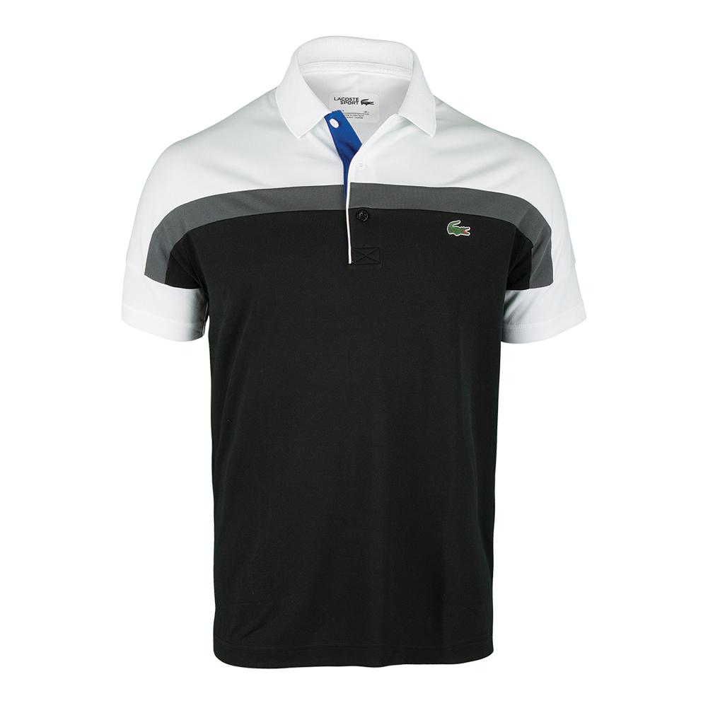 Men's Short Sleeve Ultra Dry Color Block Tennis Polo