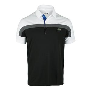 Men`s Short Sleeve Ultra Dry Color Block Tennis Polo