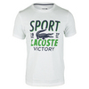Men`s Short Sleeve Technical Croc Graphic Tennis Tee 0BY_WHITE