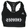 ADIDAS Women`s Techfit No Excuses Bra Black and Matte Silver Print