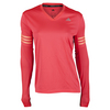 ADIDAS Women`s Response Long Sleeve Tee Shock Red