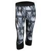 ADIDAS Women`s Techfit Boost Capri Black and Matte Silver Print