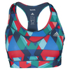 ADIDAS Women`s Techfit Boost Bra Multicolor Print