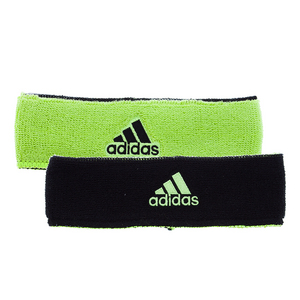 Interval Reversible Tennis Headband Slime and Black