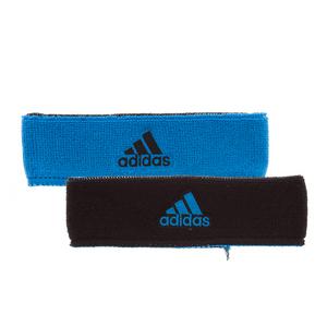 Interval Reversible Tennis Headband Solar Blue and Black