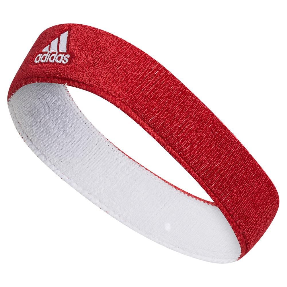 Interval Reversible Tennis Headband University Red And White