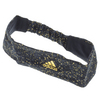 ADIDAS Climacool Tennis Hairband Black and Gold Foil Terrazzo Print