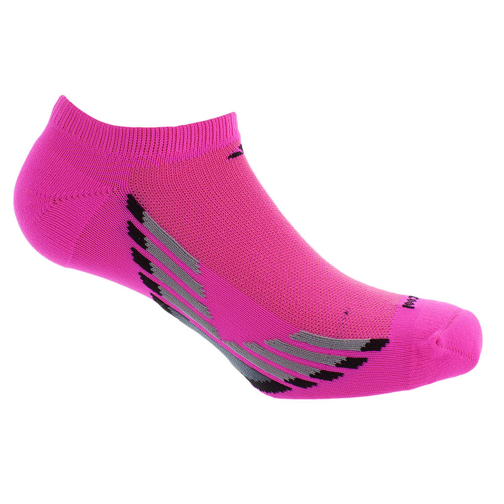 Women's Climacool X Iii No Show Socks 2 Pack Pink And Black Shoe Sizes 5- 10