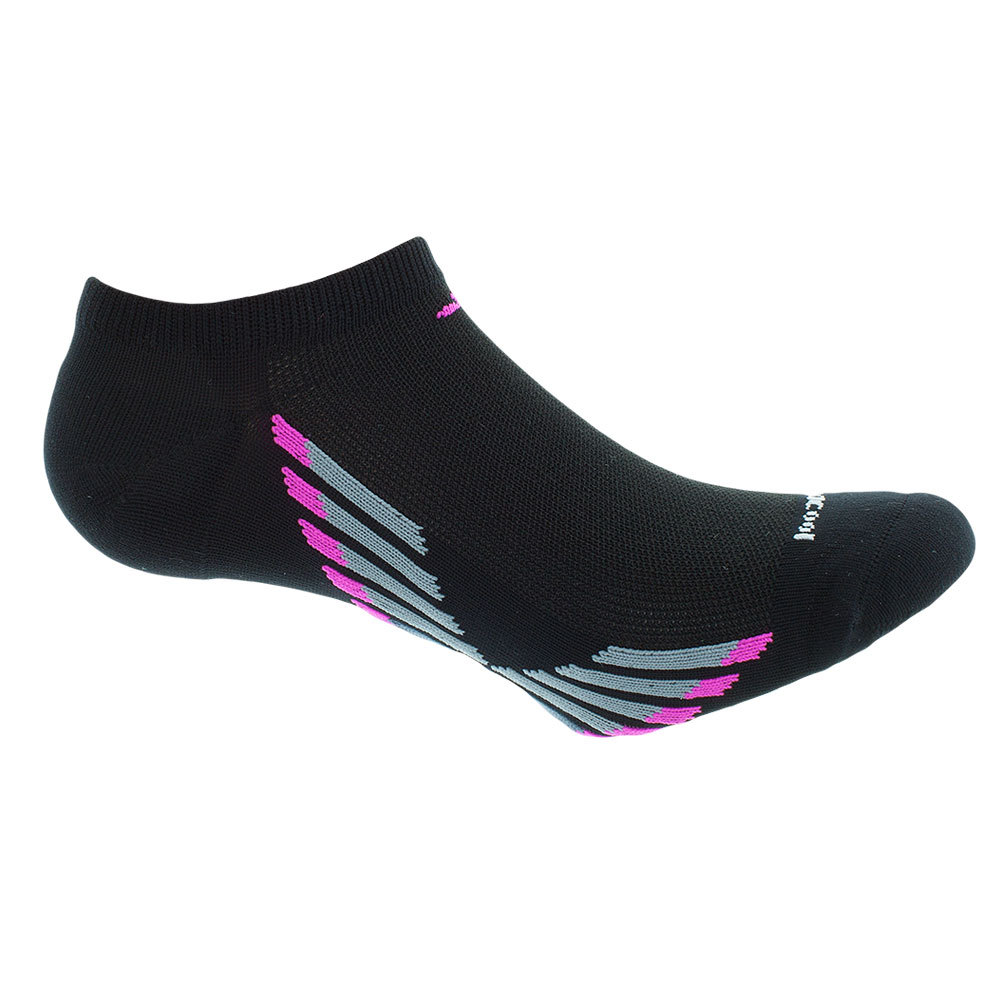 Women's Climacool X Iii No Show Socks 2 Pack Black And Pink Shoes Sizes 5- 10