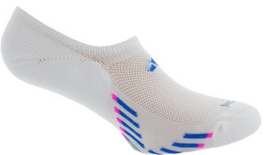 Women`s Climacool X III Super No Show 2 Pk Socks White and Blue shoe sizes 5-10