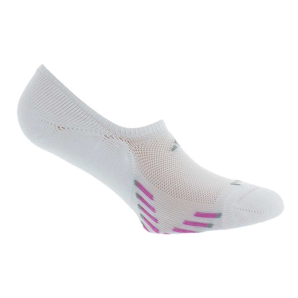 Women's Climacool X Iii Super No Show 2 Pk Socks White And Pink Shoe Sizes 5- 10