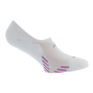 Women`s Climacool X III Super No Show 2 Pk Socks White and Pink shoe sizes 5-10