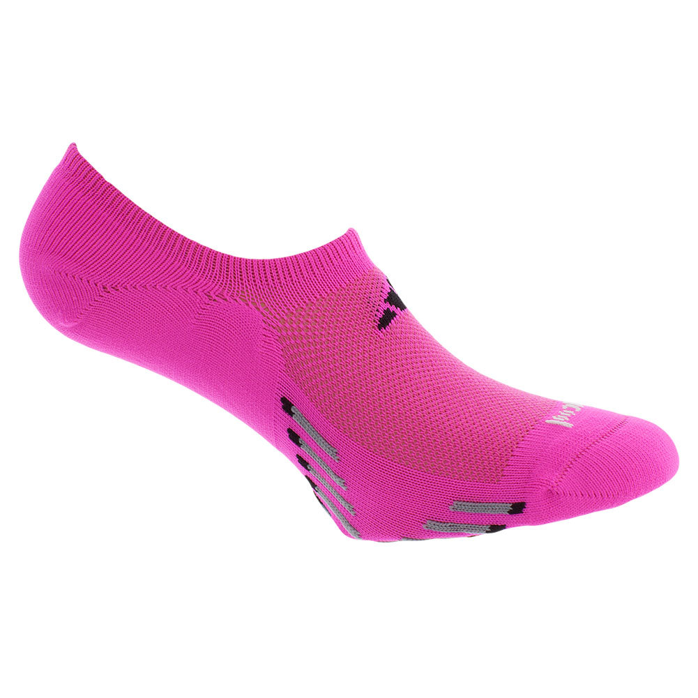 Women's Climacool X Iii Super No Show 2 Pk Socks Pink And Black Shoe Sizes 5- 10