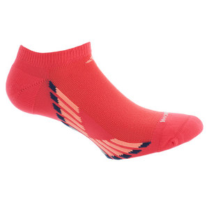 Women`s Climacool X III No Show Socks 2 Pack Sh Red and Blue shoe sizes 5-10