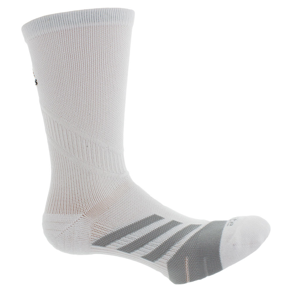 Traxion Tennis Crew Socks White And Light Onyx